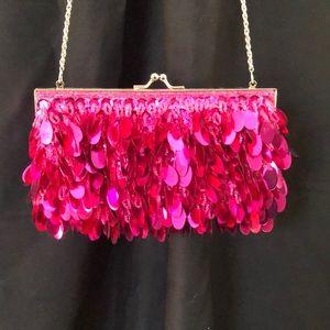 Beaded Fushia Bag